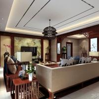 复地东湖国际201平简约中式风格装修设计