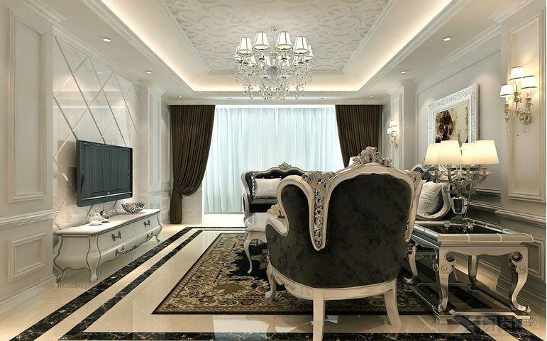 三居室古典风格餐厅