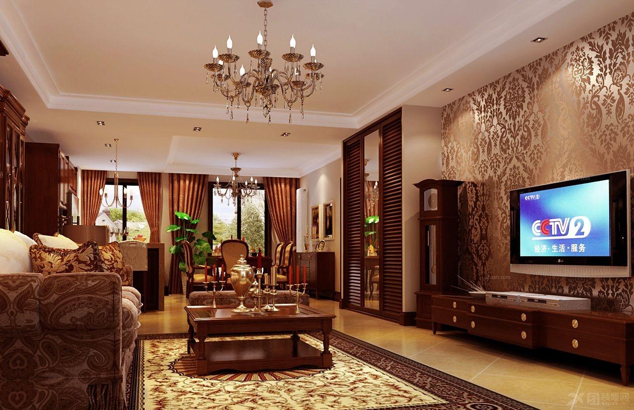 别墅中式风格餐厅_复地244平别墅中西结合文化格调