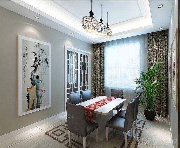 白色中式风格-197平米四居室