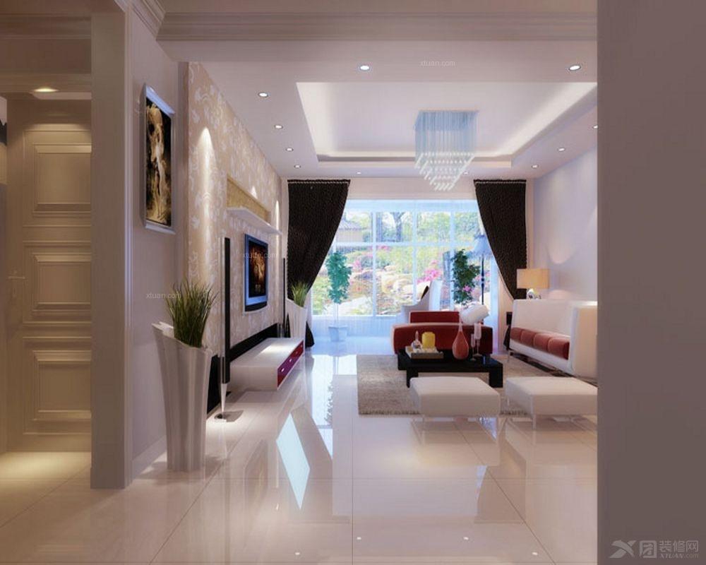 两室一厅地中海风格客厅