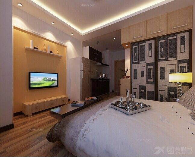 现代风格卧室