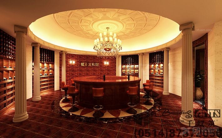 欧式风格_红酒展厅装修效果图-x团装修网
