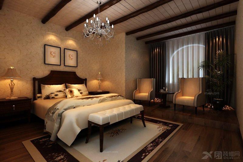 四居室地中海风格主卧室