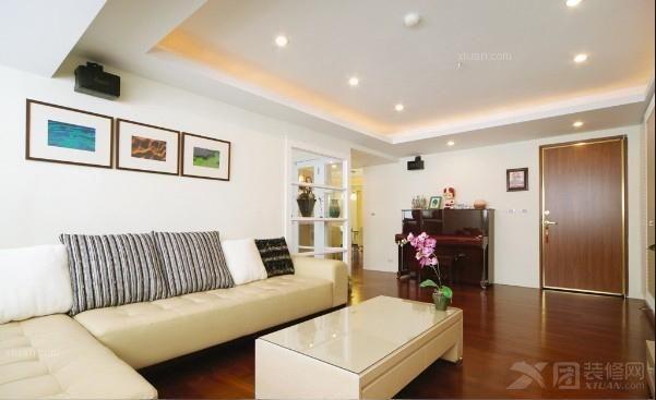 白领公寓地中海风格客厅