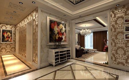 四居室简欧风格过道墙绘
