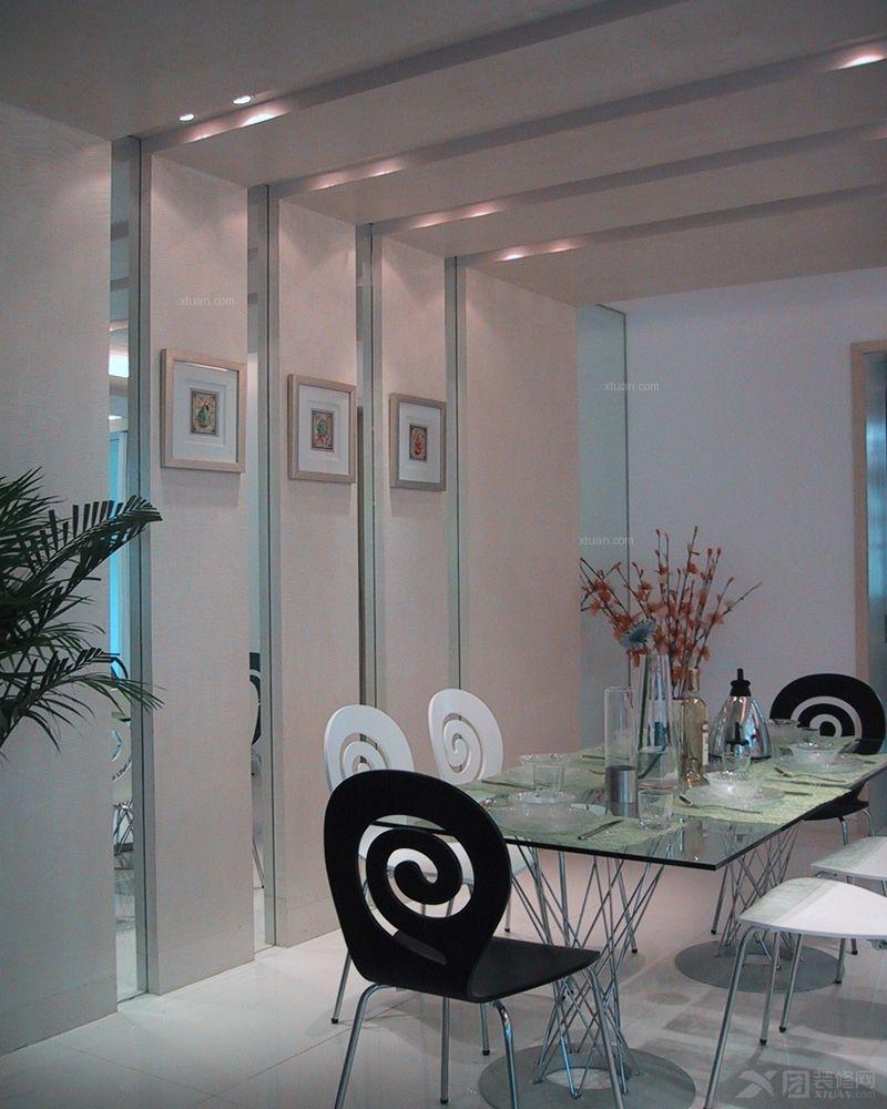两室两厅现代风格餐厅