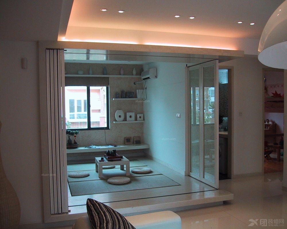 两室两厅现代风格休闲区