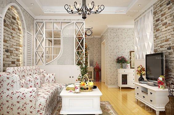 两居室韩式风格客厅
