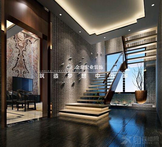 跃层楼中楼客厅欧式装修效果图