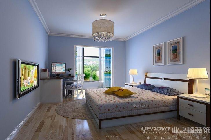 卧室卧室背景墙_230平米现代简约风格装修效果图