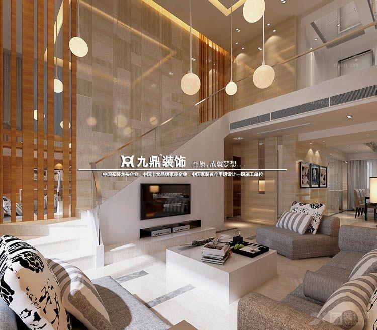 复式楼现代简约_新景国际外滩装修效果图-x团装修网