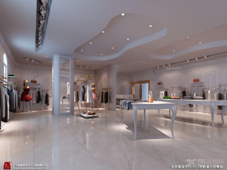罗勒品牌女装展厅设计装修
