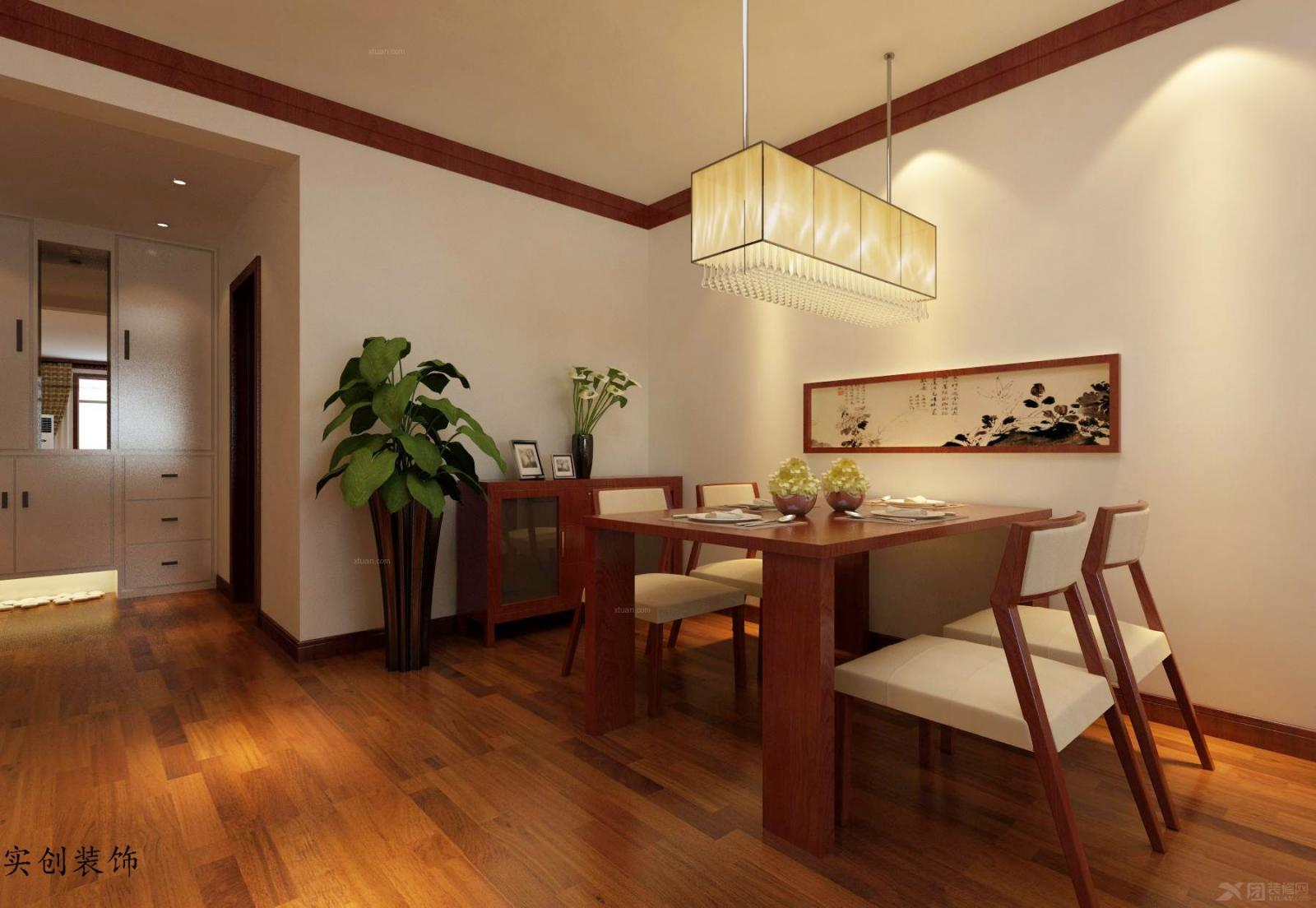 【眾美三期】105平米二居室-石家莊實創裝飾裝修效果