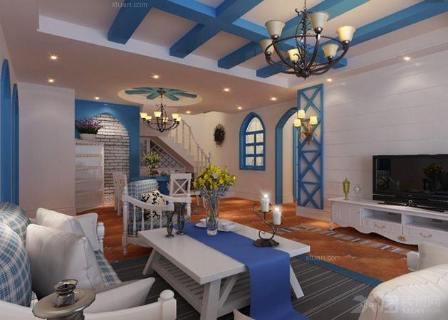 复式楼地中海风格客厅