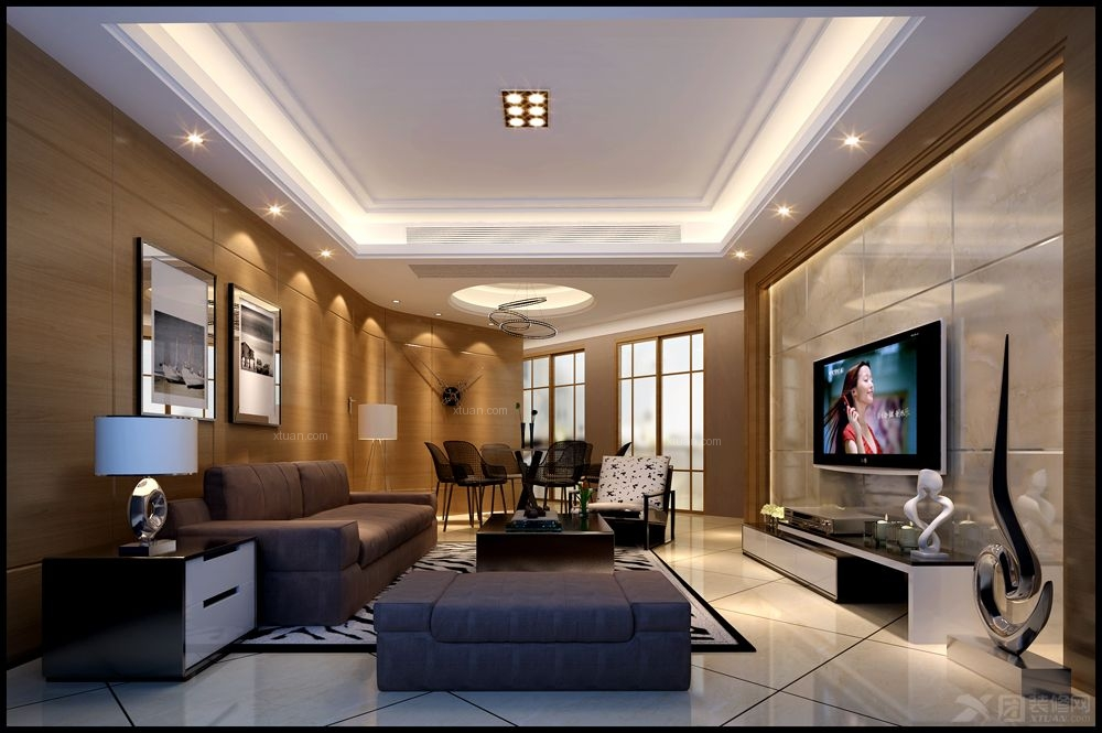 联排别墅现代简约客厅