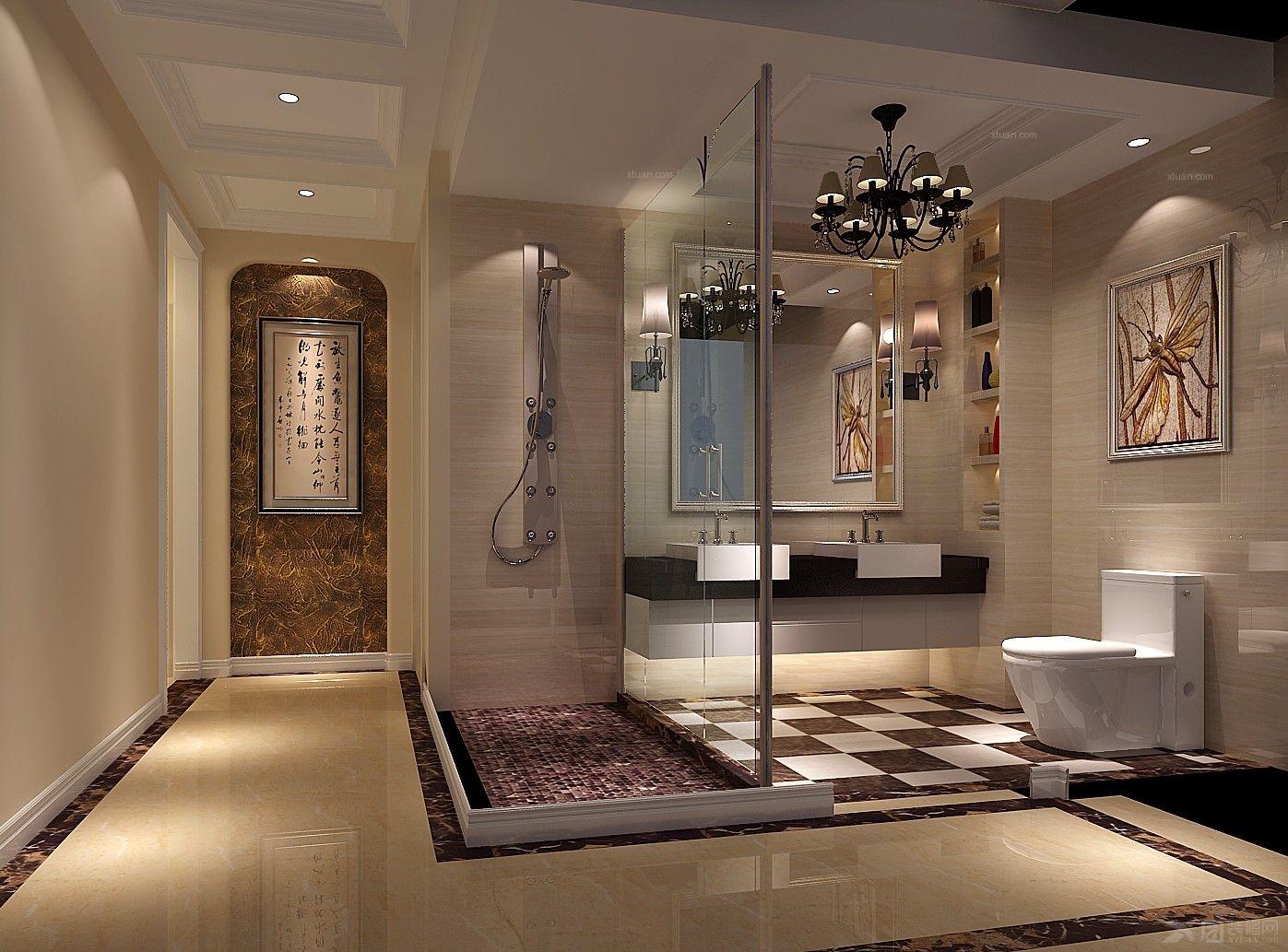 大户型简欧风格客厅_金色漫香苑-四室两厅装修效果图