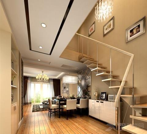 复式楼现代风格客厅_海易华庭装修效果图-x团装修网