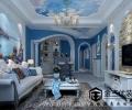 北京金三优装饰鲁能7号院C7户型188平米三居室地中海风案例