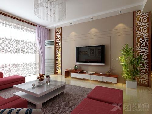 两居室客厅电视背景墙
