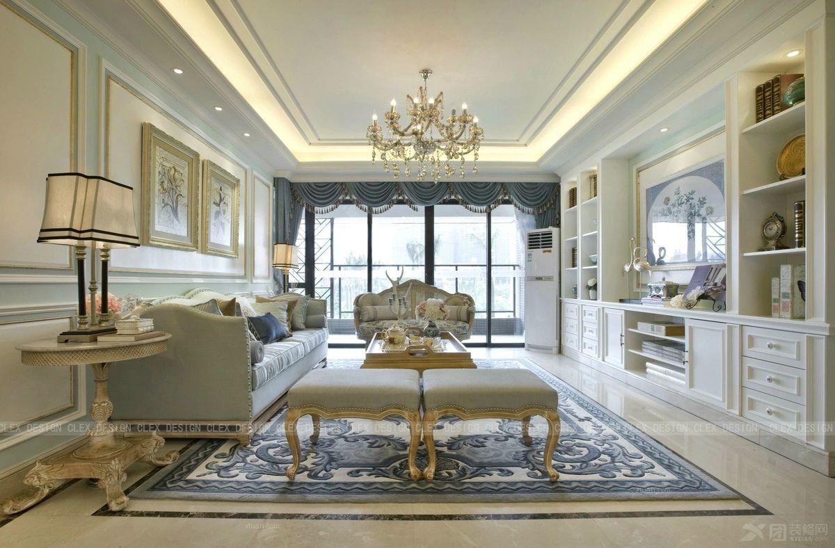 三居室法式风格客厅软装