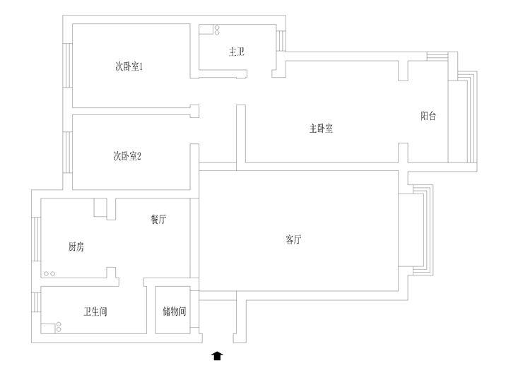 三居室休闲区软装