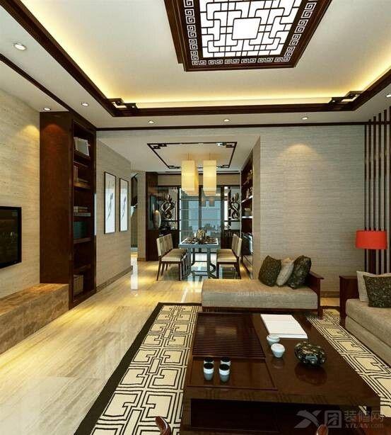 三居室中式风格客厅隔断