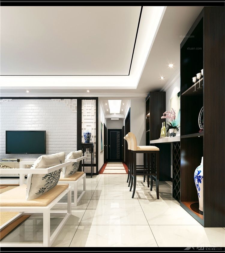 大户型客厅_南国威尼斯城装修效果图-x团装修网