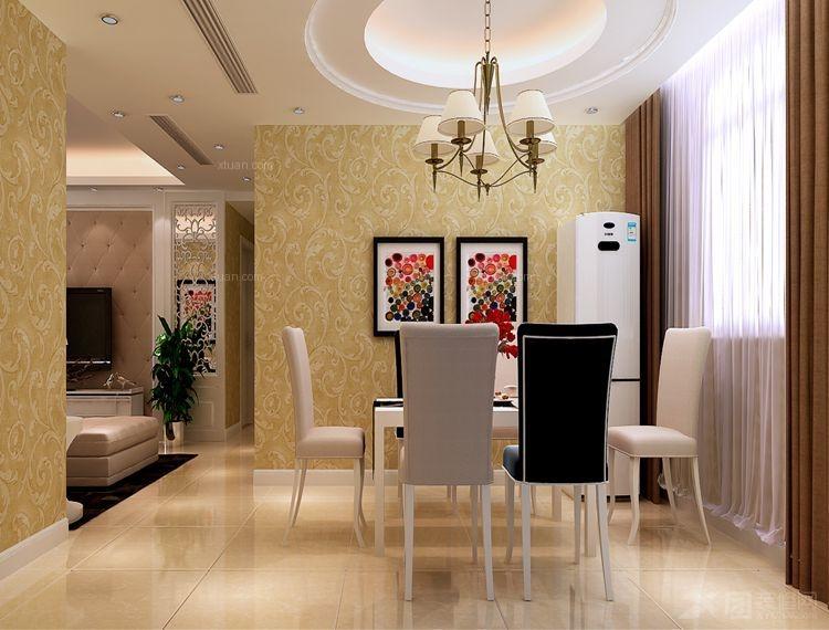 三室两厅简约风格餐厅圆形吊顶