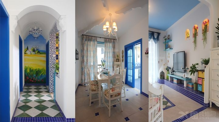 三室两厅地中海风格交换空间