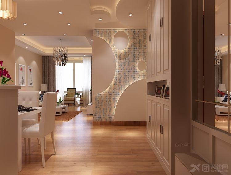 两室两厅简约风格玄关地台