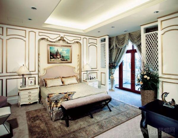 别墅古典风格卧室卧室背景墙