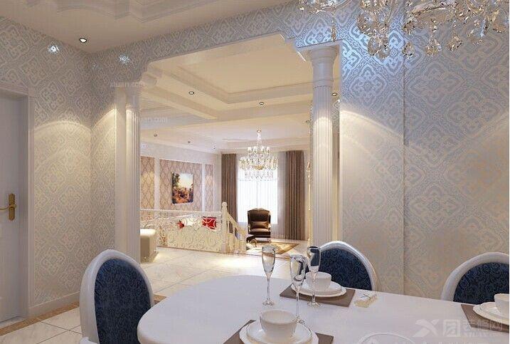 复式楼餐厅_欧式风格装修效果图-x团装修网图片