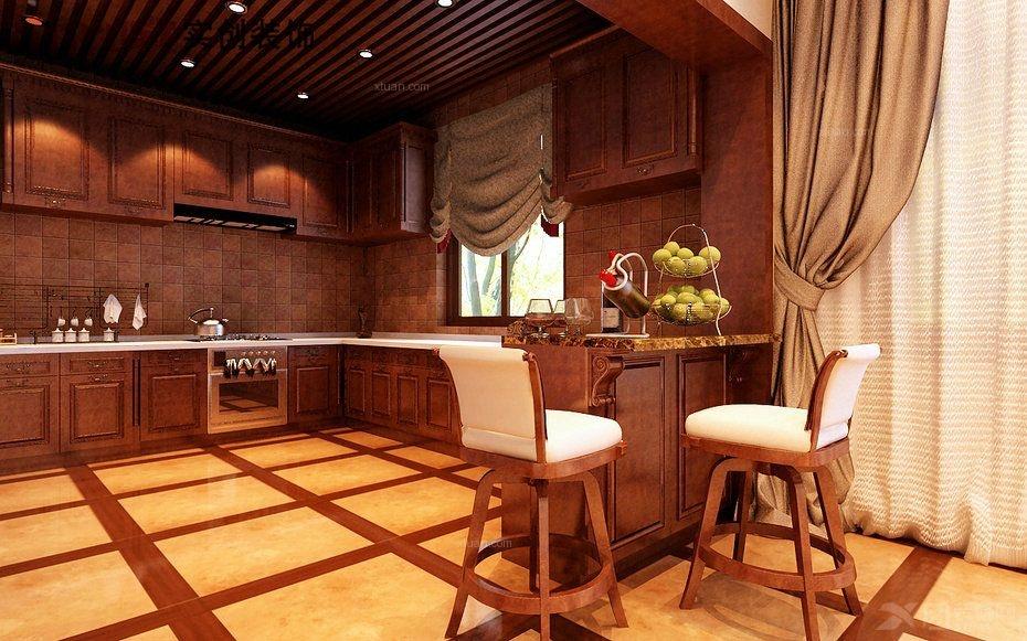 独栋别墅中式风格厨房