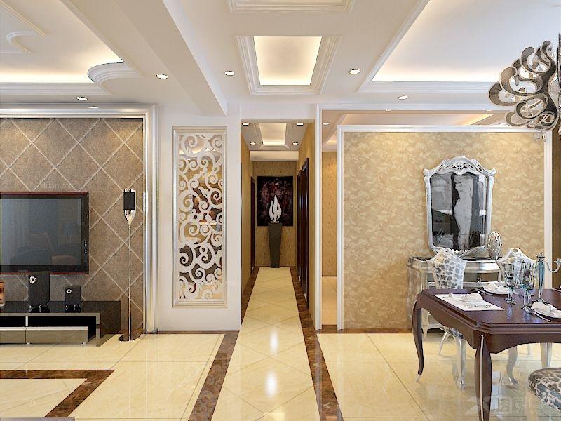 中海寰宇 132平三居室简欧风格设计风尚装修效果图