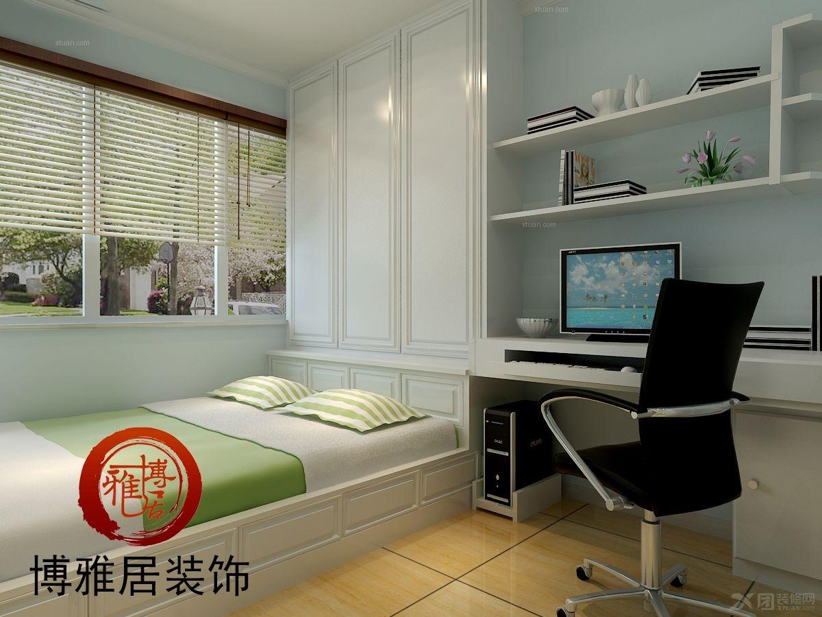 18款小户型榻榻米装修效果图 小阳台卧室榻榻米地台设计图片(2)