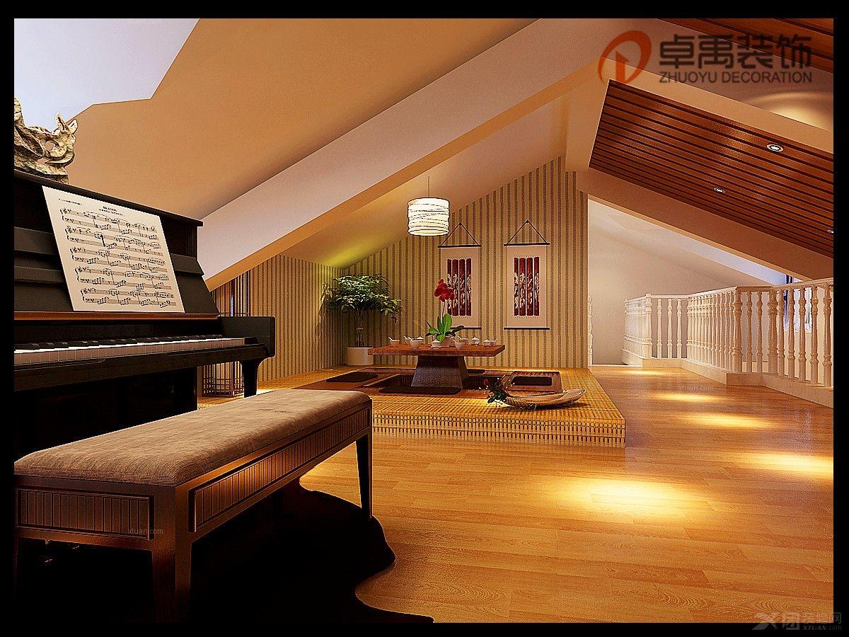 复式楼客厅装修效果图图片