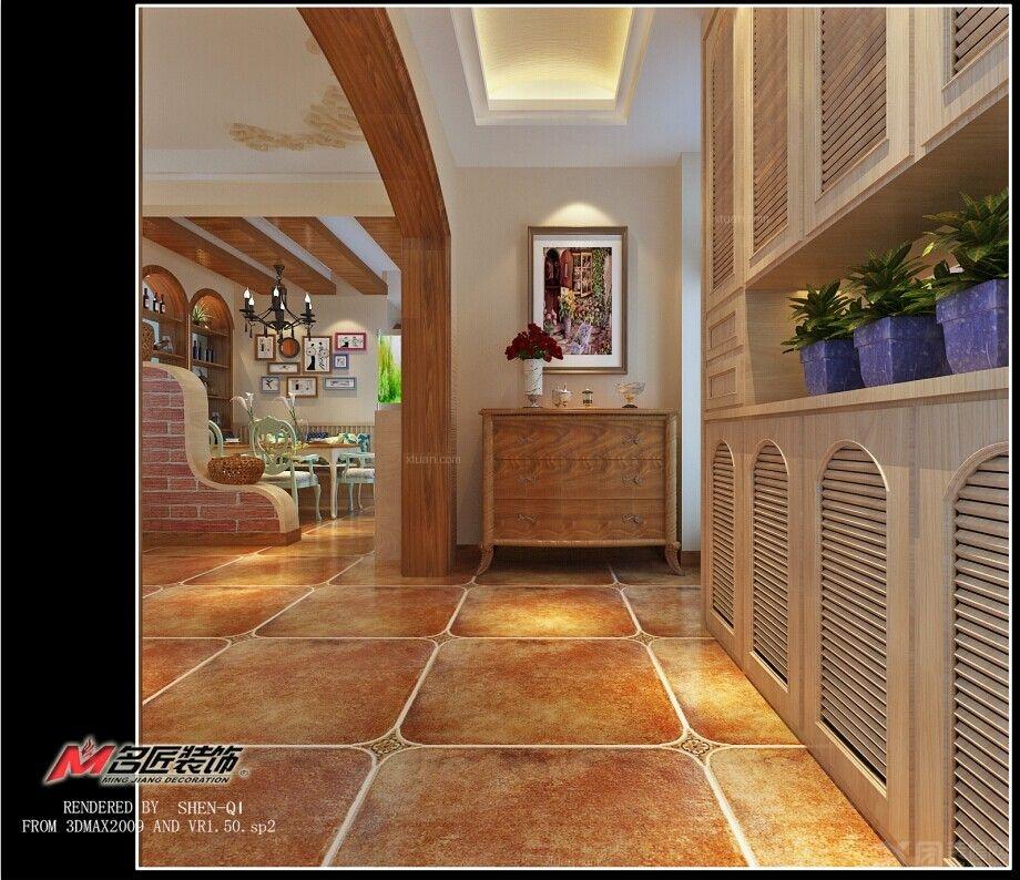 两室两厅美式风格过道图片