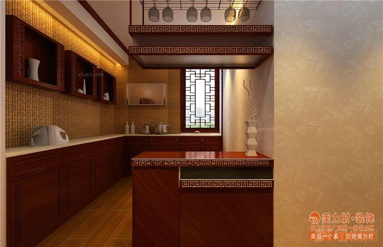 南宁半岛半山样板房 半岛半山别墅中式装修设计