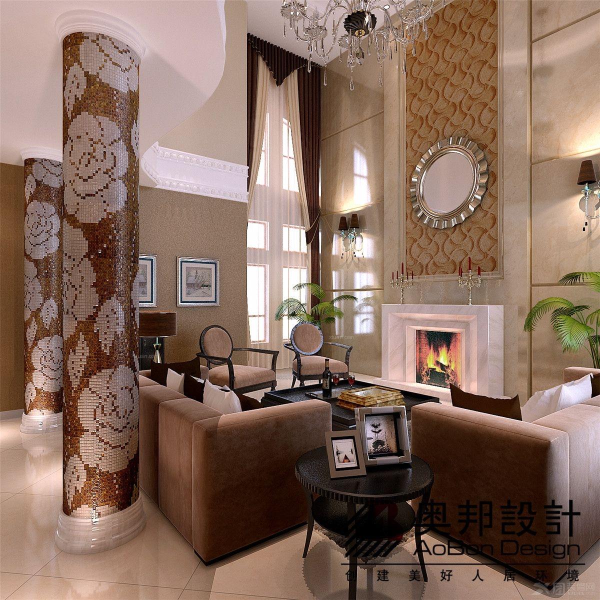 西郊别墅的现代简约美式风格设计装修效果图图片