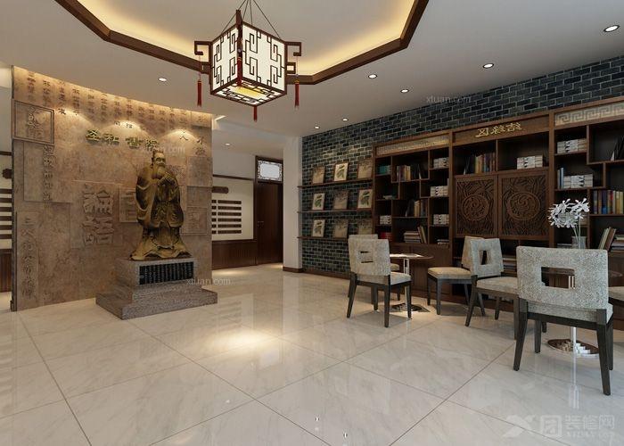 古典风格图书馆_盛和书苑510㎡中式古典装修效果图图片