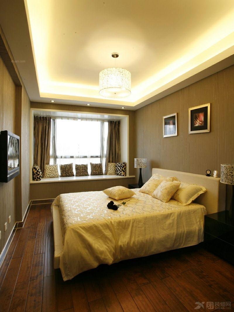 两室两厅中式风格主卧室隔断