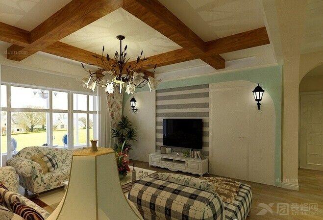 别墅田园风格客厅