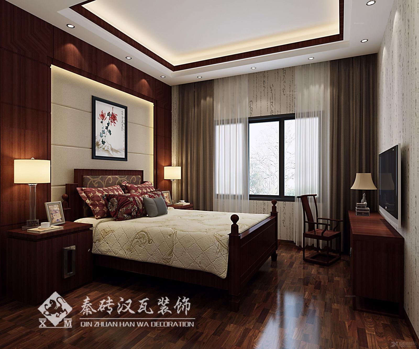 复式楼中式风格卧室