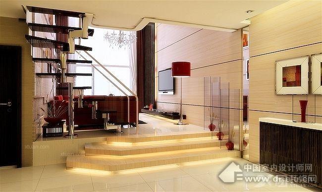 两室一厅客厅_菩提树装修效果图-x团装修网