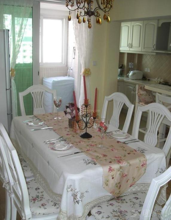 两居室田园风格餐厅