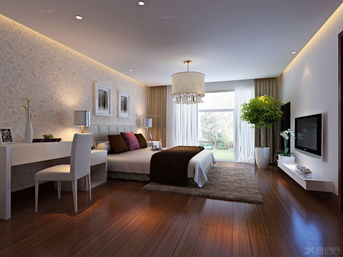 三居室现代简约卧室软装