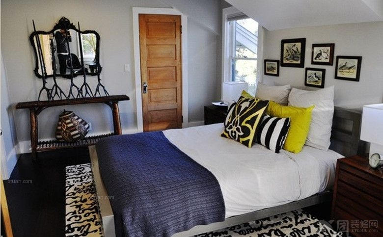 两室两厅现代简约卧室