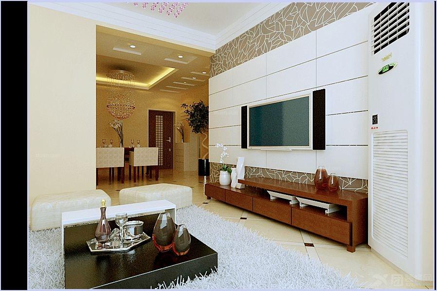 两居室现代简约客厅影视墙