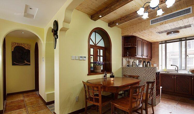 三居室混搭风格餐厅_8哩岛装修效果图
